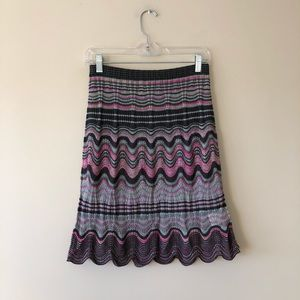 Missoni vintage knit skirt